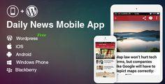 Full Mobile Application for WordPress News Blog Magazine Website  WordPress Mobile App
