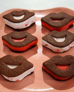 Let loved ones know you care this Valentine's Day with a smooch-worthy strawberry ice cream sandwich.Get the Lip-Shaped Ice Cream Sandwiches