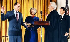 SEPT. 26, 1886: Willaim H. Rehnquist was sworn in as the  16th Chief Justice of the US Supreme Court. He had been appoointed to  the Supreme Court in 1971.Rehnquist had been nominated for Chief Justice by Pres. Reagan.  Image:  Rehnquist swearing in ceremony