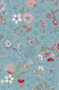 Pip Studio the Official website - Spring to Life wallpaper sea blue