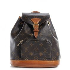 This is an authentic LOUIS VUITTON Monogram Mini Montsouris Backpack Bag.   This petite backpack features the same elements of the larger Montsouris only in a compact design.