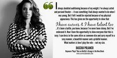 Dascha Polanco quote | www.curvesalamode.com #OITNB #DaschaPolanco #Daya