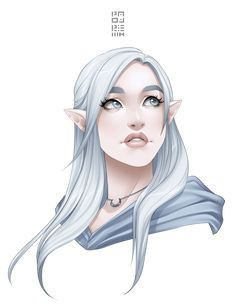 ideas for hair white anime female deviantart Elf Characters, Dungeons And Dragons Characters, Fantasy Characters, Character Design Cartoon, Fantasy Character Design, Character Art, Female Character Concept, Animation Character, Character Ideas