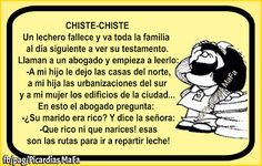Mundo de Postales: CHISTE-CHISTE Spanish Phrases, Spanish Humor, Spanish Quotes, Mafalda Quotes, Enjoy Quotes, Motivational Quotes For Working Out, Life Rules, Good Humor, Smiles And Laughs