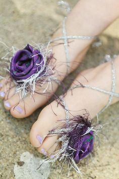 Barefoot Sandal Rapunzel Purple Fairytale by RockyMtnFrihttp://pinterest.com/all/?category=photography#nge