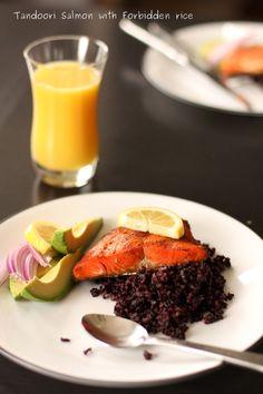 Tandoori Spiced Salmon With Black Rice