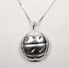 STERLING SILVER LARGE BEACH VOLLEYBALL SPORTS GAME BALL PLAYER PENDANT NECKLACE