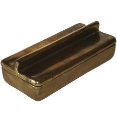 Ben Seibel; Brass Lidded Box for Jenfredware, 1955.