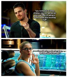 Arrow - Oliver and Felicity #3.8 #Season3 #Olicity
