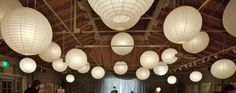 CHEAP lanterns for youth room Cheap Paper Lanterns, White Paper Lanterns, Hanging Lanterns, Luau Wedding, Wedding Ideas, Table Wedding, Wedding Reception, Dream Wedding, Wedding Inspiration