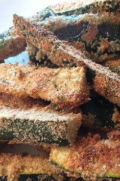 """Baked Zucchini Fries   """"Great way to get in the veggies and husband approved, which is a real feat! """" #healthyrecipes #healthycookingideas #dietrecipes #healthyfoods #lightrecipes #weightlossrecipes #weightlossfood"""
