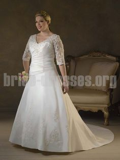 Image Detail For Modest Wedding Dresses With Lace Covers The Sheer Elbow Length Sleeve