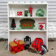 We picked this darling shelf up yesterday at the thrift. I thought wow, such a great display piece! I styled it up in the driveway, and… Pyrex Display, Thrifting, Lisa, Shelf, Thoughts, My Style, Instagram, Shelving, Budget