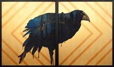 """The Phoenix"" diptych 1230 x Flashe (acrylic vinyl) painting on canvas Artwork Prints, Fine Art Prints, New Zealand Landscape, Mirror Art, Mirrors, Maori Art, Buddhist Art, Animal Decor, Egyptian Art"