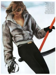 Iselin Steiro for Vogue Paris Vogue Paris, Snow Fashion, Winter Fashion, Apres Ski Party, Fashion Fotografie, Ski Bunnies, Ski Wear, Winter Stil, Mode Inspiration