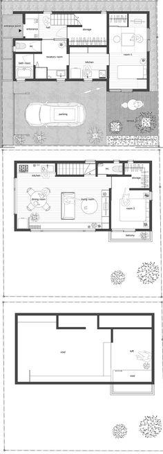 House Ageo - Small House - KASA Architects - Japan - Floor Plans - Humble Homes
