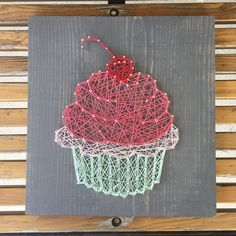 """48 Likes, 1 Comments - James & The Letters (@jamesandtheletters) on Instagram: """"Who doesn't need some sugar in their lives?! #cupcake #stringart #etsy #sweettreat"""""""