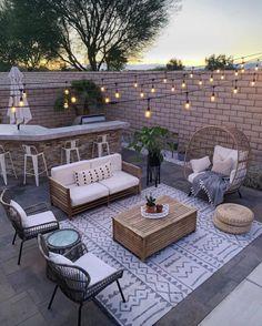 Outdoor Patio Designs, Small Backyard Patio, Outdoor Decor, Backyard Ideas, Backyard Pools, Backyard Landscaping, Diy Patio, Outdoor Patios, Diy Pergola