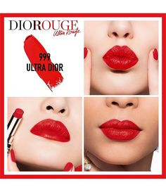 Shop Dior's Rouge Dior Ultra Rouge Lipstick at Sephora. An ultra-pigmented lipstick with a luminous, semi-matte finish, and a hydrating, comfortable formula. Dior Lipstick, Long Wear Lipstick, Lipstick Colors, Lipstick Dupes, Lipstick Swatches, Lipstick Shades, Miss Dior, Blushes, History Of Lipstick