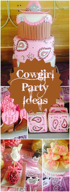 What a fun cowgirl party! Check out the cake on slide 2! See more party ideas at CatchMyParty.com!