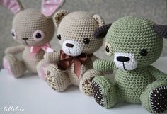 Ravelry: Amigurumi cuties - bunny, puppy and teddy pattern by Mari-Liis Lille