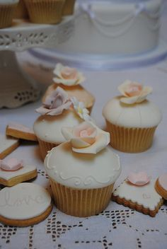 Wedding fair cupcakes and biscuits by Bath Baby Cakes, via Flickr