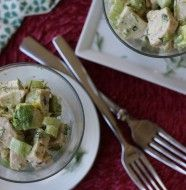 Pork Chops over Roasted Summer Vegetables in a Citrus Balsamic Vinaigrette and Avocado Cream PaleOMG