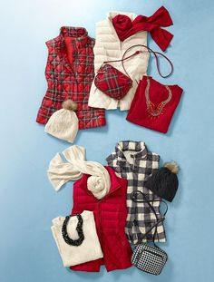 buffalo check vest and cable knit scarves - talbots Classic Outfits, Stylish Outfits, Fall Winter Outfits, Autumn Winter Fashion, Preppy Style, My Style, Outfit Invierno, Looks Plus Size, 60 Fashion