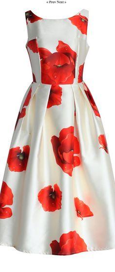 poppy midi dress