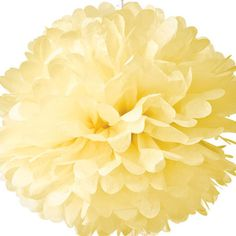 Tissue Paper Pom Poms - Pale Yellow for $4.50 from The TomKat Studio Party Shop