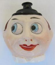 "Rare Antique German Glass 2"" Comic Character Ornament Figural Face l"