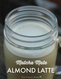 Matcha Mate Almond Latte coffee substitute is energizing and yummy. Contains Mate known for its energy enhancing properties. Matcha green tea powder is a super food of it own. Almond milk with honey and/or maple syrup and flavoring.