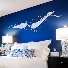 Freestyle Swimmer Wall Decal - Swimmer Sticker, Swimmer Decal, Gift For Swimmer, Swimming Art, Pool Decor, Sports Wall Decal Sticker by WallumsWallDecals on Etsy https://www.etsy.com/listing/214859382/freestyle-swimmer-wall-decal-swimmer