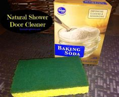 Baking Soda Shower Door Cleaner