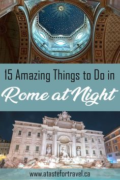 From soccer games to wine and food tours, Rome, Italy comes alive at sunset. Here are our picks for the very best things to do in Rome at night. games 15 Amazing Things to Do in Rome at Night Italy Travel Tips, Rome Travel, Europe Travel Guide, Backpacking Europe, Greece Travel, Croatia Travel, Budget Travel, Travel Guides, Rome At Night