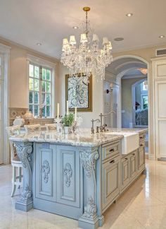 New Orleans Blue - traditional - kitchen - san diego - Design Moe Kitchen & Bath / Heather Moe designer