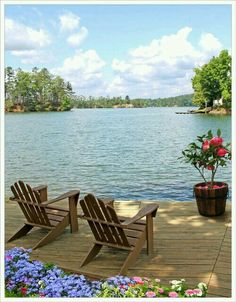 Lake front cabin home with a place to relax