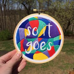 not sure these bright colors go with a #vonnegut quote but... #soitgoes. (listing today in thebadasserie.net)