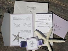 beach theme wedding invitations RiverCityStudio