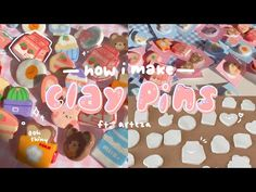how i make clay pins 🍓🧊 - YouTube Cement Crafts, Clay Crafts, How To Make Clay, Etsy Business, Cold Porcelain, Pottery Art, Polymer Clay, The Creator, Etsy Shop