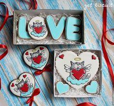 Купить Котик ангелочек - белый, кот, котик, сердце, анелочек, ангел, День всех влюбленных