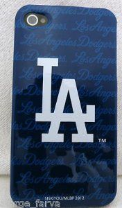 Las Angeles Dodgers Deluxe MLB iPhone 4 4S Case Snap On Cover Case Faceplate