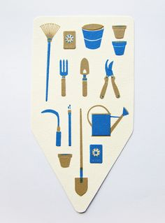 spring garden tools anne manteleers graphic designer illustrator