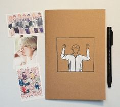 Lined Notebook inspired by V (BTS) Singularity Fresh Lip, Bts Love Yourself, Lined Notebook, Lined Page, Line Drawing, Photo Cards, A5, Black Hair, The Book