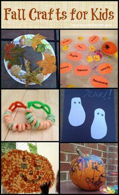 Easy Fall Crafts for Kids #Toddler #PreSchool #homeschool