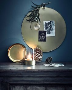 Shop deze stijl: gouden muurdecoratie | Shop the look: golden wall decoration