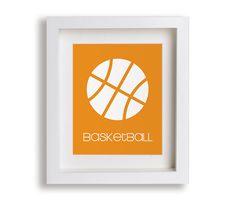 Basketball Nursery Art Print