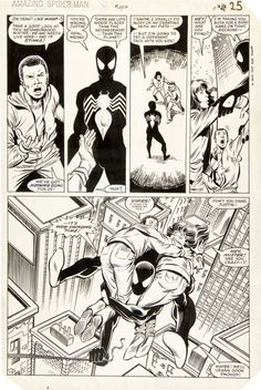 Ron Frenz and Brett Breeding The Amazing Spider-Man #252 Page 19 Original Art (Marvel, 1984)