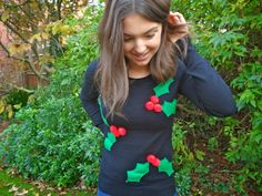 How to make a Christmas Jumper. #DIY #Fashion