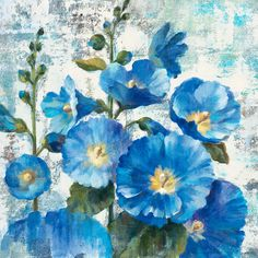 Masterpiece Art - Aquamarine Hollyhocks, $18.30 (http://www.masterpieceart.com.au/aquamarine-hollyhocks/)